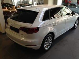 Audi A3 spotback blindering ramen