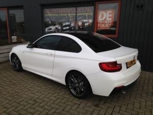BMW 2-serie coupé blindering ramen