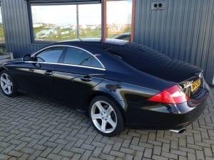 Mercedes CLS zwart blindering ramen