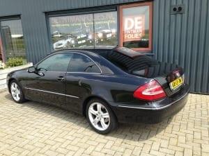Mercedes c-coupe zwart blindering ramen