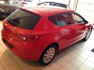 Seat Ibiza rood blindering ramen