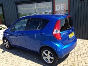 Suzuki Splash blauw blindering ramen