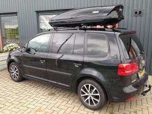Volkswagen Touran zwart blindering ramen