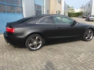 Audi A5 Coupe Zijdeglans zwart 1080-S12 Satin Black-5
