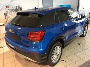 Audi Q2 blindering ramen