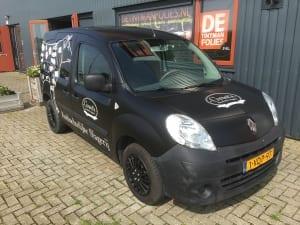 Renault Kangoo zijdeglans zwart wrap met reclame Groot Slagerij-7